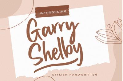 Garry Shelby Stylish Handwritten