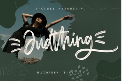 Judthing Handbrush Typeface