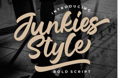 Junkies Style Bold Script