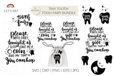 Tooth fairy svg, dental svg, tooth svg, tiny tooth svg bundle. Tooth f