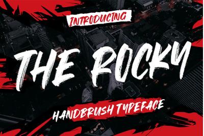 The Rocky Handbrush Typeface