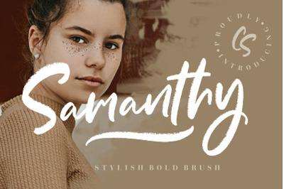 Samanthy Stylish Brush Script