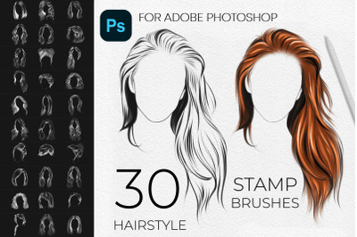 Adobe Photoshop Hairstyle Stamps Brushes