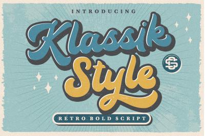 Klassik Style Retro Bold Script