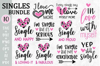 Single SVG Bundle, Anti Valentine cut files, Single life SVG