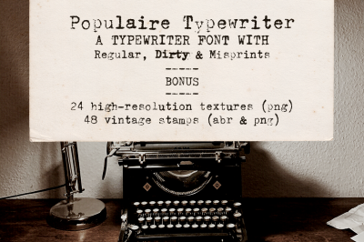 Populaire Typewriter Font & Extras