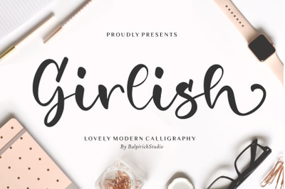 Girlish Lovely Modern Calligraphy Font