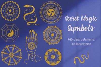 Secret Magic Symbols  Illustration Set