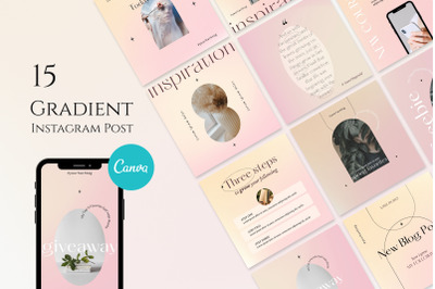 Gradient Instagram Posts Templates