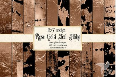 5x7 Rose Gold Foil Flake Textures