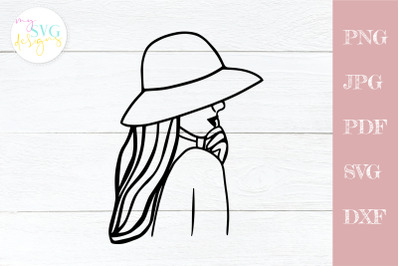 Woman svg, Girl power svg, Woman outline svg