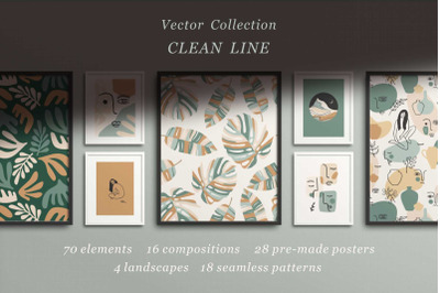Clean Line. Vector collection