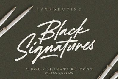 Black Signatures - Signature Font