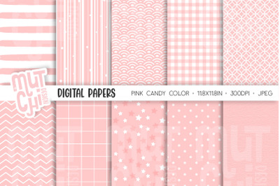 Pink Candy Color Digital Papers