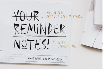 Reminder Notes - Handwritten Font