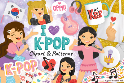 K-pop Clipart and Patterns