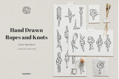 Hand Drawn Ropes and Knots Illustrations