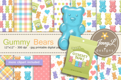 Gummy Bears Digital Papers and Clipart