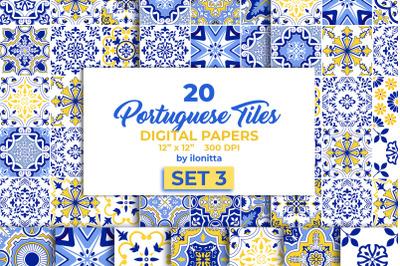 Portuguese Tiles Digital Papers Set3
