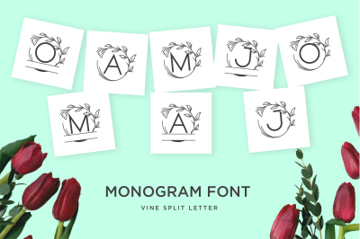 monogram vine letter for crafter
