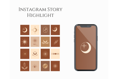Instagram Story, Highlight Icons, bisness presets, minimalistic instag