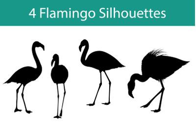 Flamingo Silhouette Set