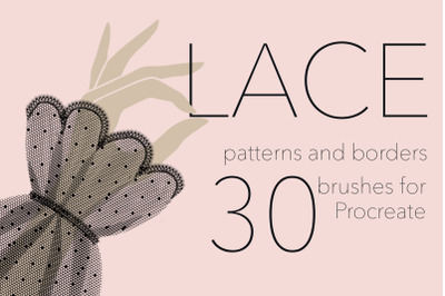 Lace pattern and border procreate brushes