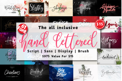 Hand Lettered Font Bundles