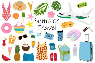 Summer travel. Summer Tourism. Summer Trips. Sea travel SVG