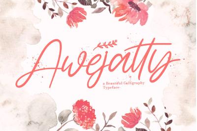 Awejatty - Handwritten Font