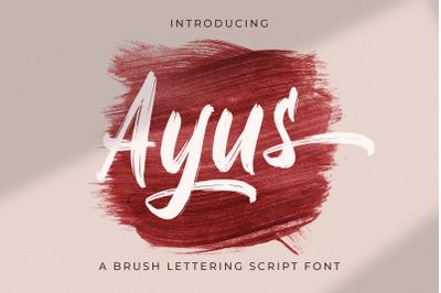 Ayus - Handbrush Script Font