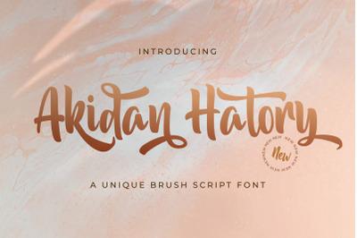 Akidan Hatory - Bold Script Font