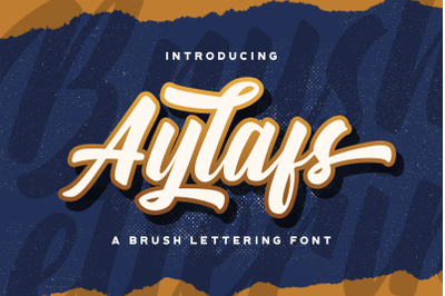 Aylafs - Bold Script Font