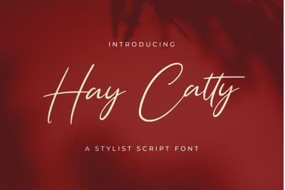 Hay Catty - Handwritten Font