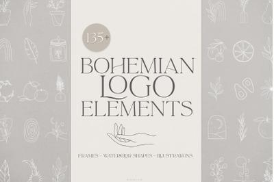 Bohemian logo elements & frames