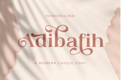 Adibafih - Casual Serif Font
