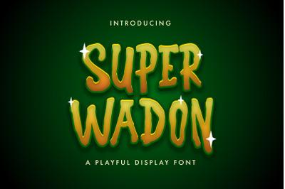 Super Wadon - Haunted Display Font
