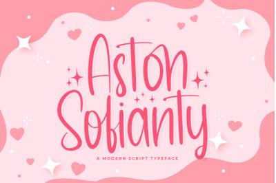 Aston Sofianty - Handwritten Font