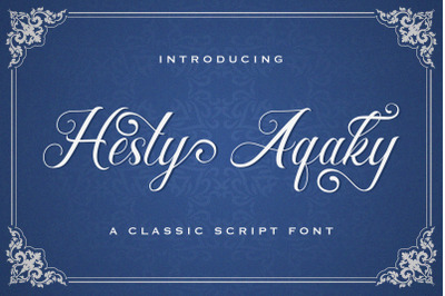 Hesty Aqaky - Modern Script Font