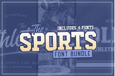 The Sports Font Bundle (Sport Fonts, College Fonts, Football Fonts)