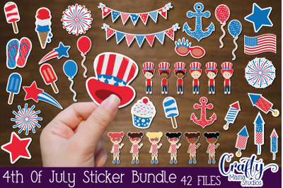 4th Of July Stickers, USA Sticker Bundle, Independence Day