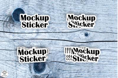 Sticker Mockup set. PSD file.