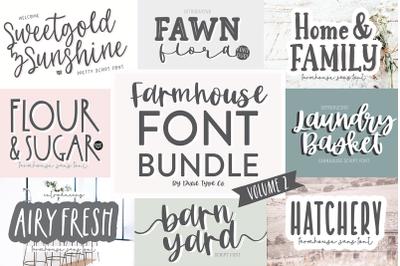 VOLUME 2 - Farmhouse Font Bundle