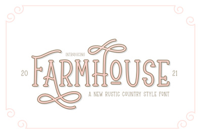 Farmhouse Font (Farmhouse Fonts, Craft Fonts, Crafter Fonts)