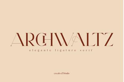 Archwaltz ligature serif font