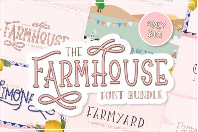 The Farmhouse Fonts Bundle (Farmhouse Fonts, Craft Bundles)