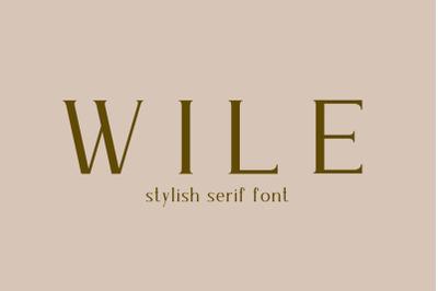 Wile - Serif Font