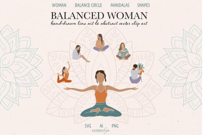 Abstract balance woman