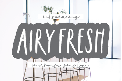 AIRY FRESH Distressed Farmhouse Font