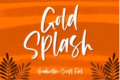 Gold Splash Font